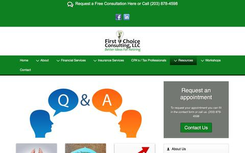 Screenshot of FAQ Page firstchoiceconsultingllc.net - FAQs Page - captured Oct. 13, 2017