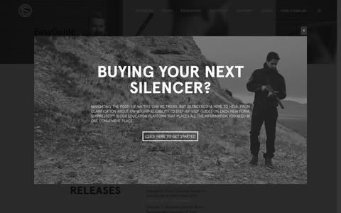 Screenshot of Press Page silencerco.com - Press Releases - SilencerCo - captured Aug. 27, 2016