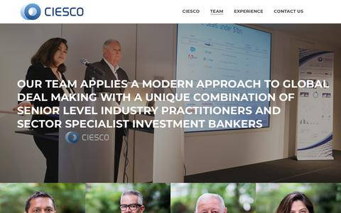 Screenshot of Team Page ciescogroup.com - Team – Ciesco Group - captured Nov. 4, 2018