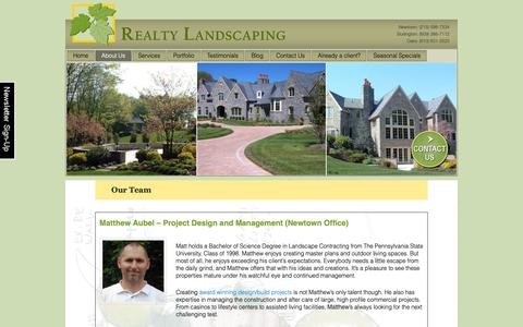 Screenshot of Team Page realtylandscaping.com - Our Team of Landscape Maintenance Pros, Designers & Creators - captured Oct. 20, 2018