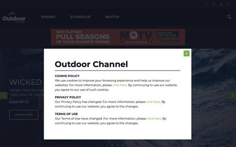 Screenshot of Home Page outdoorchannel.com - Outdoor Channel - captured Nov. 12, 2018