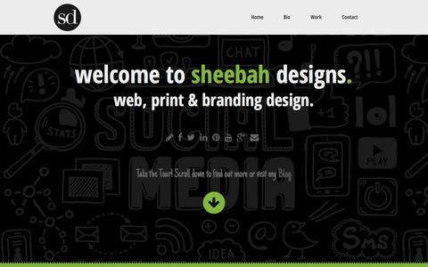 Screenshot of Home Page sheebah-designs.com - Sheebah Designs » Graphic Design » Web Design » Co. Mayo - captured Sept. 30, 2014