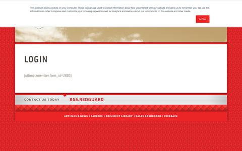 Screenshot of Login Page redguard.com - Login - RedGuard - captured Sept. 20, 2018