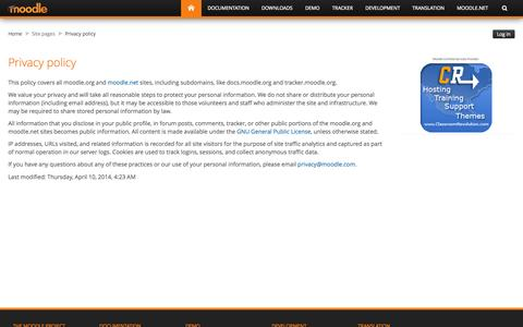 Moodle.org: Privacy policy