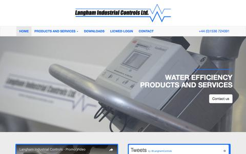 Screenshot of Home Page langhamcontrols.com - Home | Langham Industrial Controls Ltd - captured July 15, 2017