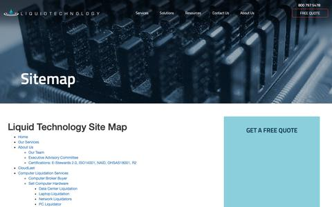 Screenshot of Site Map Page liquidtechnology.net - Sitemap | Liquid Technology - captured Oct. 24, 2018