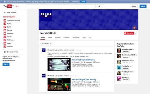 Screenshot of YouTube Page youtube.com - Merkle UK Ltd  - YouTube - captured Oct. 27, 2014