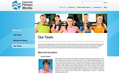 Screenshot of Team Page corporatefitnessworks.com - Our Team - Corporate Fitness Works | Fitness Center Management & Consulting | Health & Wellness Programs - captured Sept. 30, 2014