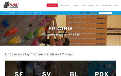 Screenshot of Pricing Page planetgranite.com - Pricing - captured Sept. 6, 2016