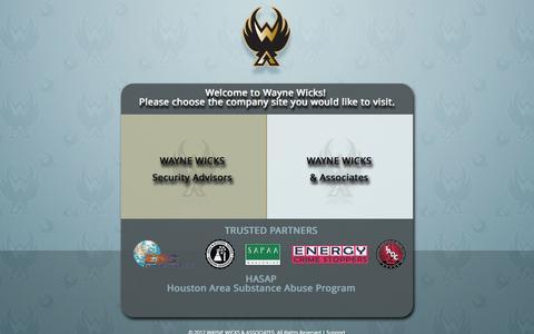 Screenshot of Home Page wwicks.com - Wayne Wicks - captured Oct. 6, 2014