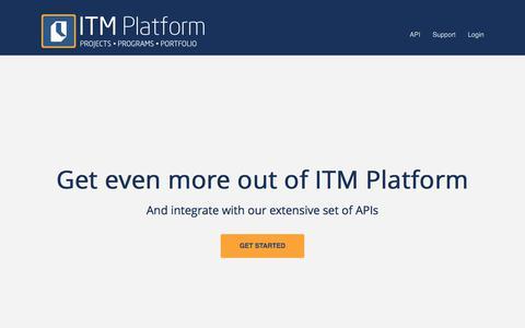 Screenshot of Developers Page itmplatform.com - ITM Platform for Developers - captured June 7, 2017