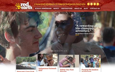 Screenshot of Home Page reo.net.au - Red Earth | Connecting Students to Remote Indigenous Australia - captured Oct. 7, 2014