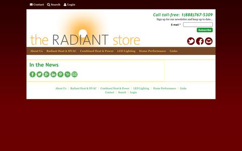 Screenshot of Press Page theradiantstoreinc.com - In the News | The Radiant Store - captured June 17, 2017