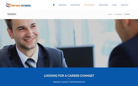 Screenshot of Jobs Page fwiwappraisals.com - Machinery, Equipment, Inventory Appraisal Career Job Opportunity - captured Nov. 25, 2016