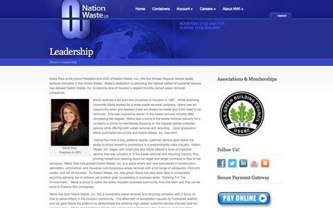 Screenshot of Team Page nationwaste.us - Leadership   Nation Waste Texas - captured Oct. 27, 2014