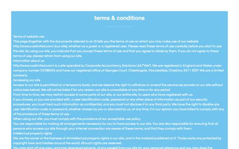 Screenshot of Terms Page caslimited.com - Terms & Conditions - CAS Limited - captured Sept. 29, 2018