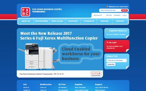 Screenshot of Home Page fxshop.com.au - Fuji Xerox Business Centre Toowoomba Home page - captured July 6, 2018