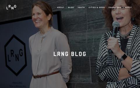 Screenshot of Blog lrng.org - LRNG Blog - About LRNG - captured March 5, 2016