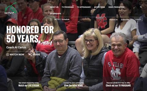 Screenshot of Home Page nctv17.com - NCTV17 | Naperville News & Sports - captured Jan. 10, 2016