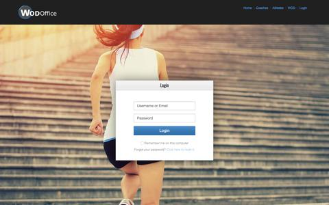 Screenshot of Login Page wodoffice.com - Elevated - captured March 13, 2016