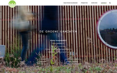 Screenshot of Contact Page degroenegrachten.nl - Contact - De Groene Grachten - captured Aug. 1, 2016