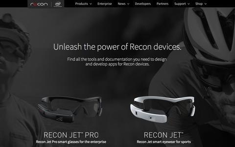 Screenshot of Developers Page reconinstruments.com - Developers - Recon Instruments - captured Nov. 9, 2016
