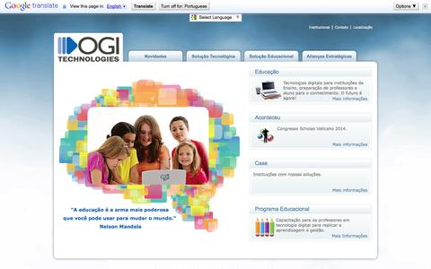 Screenshot of Home Page ogitech.com.br - OGI Technologies - captured Oct. 4, 2014