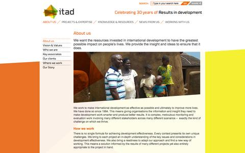 Screenshot of About Page itad.com - About us - Itad - captured Sept. 30, 2014