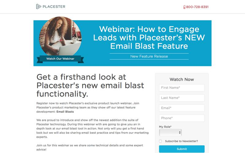 Placester Webinar: How to Engage Leads with Placester's NEW Email Blast Feature