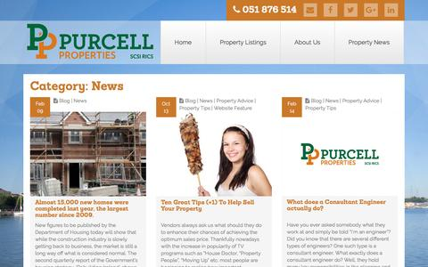 Screenshot of Press Page purcellproperties.ie - Category: News | Purcell Properties - captured May 24, 2017