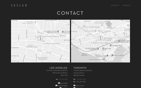 Screenshot of Contact Page sesler.com - SESLER » Contact - captured July 25, 2018