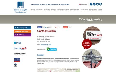 Screenshot of Contact Page abcschool.co.uk - Contact our multinational staff at ABC School of English - captured Oct. 27, 2014
