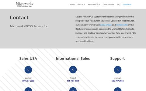 Screenshot of Contact Page microworks.com - POS Solutions | Microworks POS Solutions, Inc - captured Aug. 29, 2019