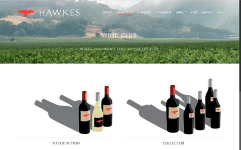 Screenshot of Signup Page hawkeswine.com - Wine Club - captured July 16, 2018
