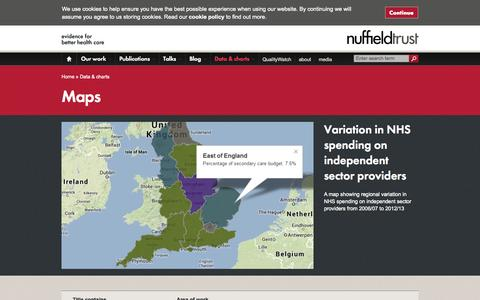 Screenshot of Maps & Directions Page nuffieldtrust.org.uk - Maps | The Nuffield Trust - captured Sept. 30, 2014