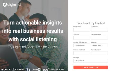 Try Digimind Social For Free