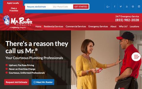 Screenshot of Home Page mrrooter.com - Mr. Rooter Plumbing | Plumbing & Drain Company - captured June 19, 2017