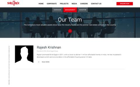 Screenshot of Team Page sheltrex.com - Sheltrex - captured Aug. 18, 2017