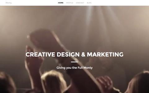 Screenshot of Home Page wearemonty.com - Monty | Creative Design & Marketing Agency - captured Aug. 14, 2015