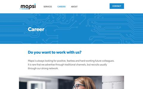 Screenshot of Jobs Page mapsi.no - Career - captured Oct. 16, 2018