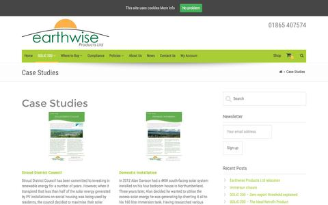 Screenshot of Case Studies Page earthwiseproducts.co.uk - Case Studies – Earthwise Products - captured Oct. 19, 2016