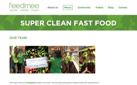 Screenshot of Team Page feedmee.com.au - Our Team - work at feedmee - captured Jan. 8, 2016