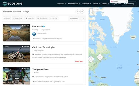 Screenshot of Products Page ecospire.com - Products Archives - Ecospire - captured Nov. 5, 2018