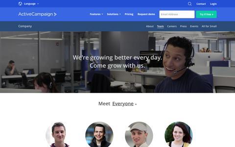 Screenshot of Team Page activecampaign.com - Team - captured June 18, 2019