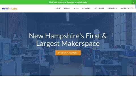 Screenshot of Home Page makeitlabs.com - MakeIt Labs - captured June 17, 2015