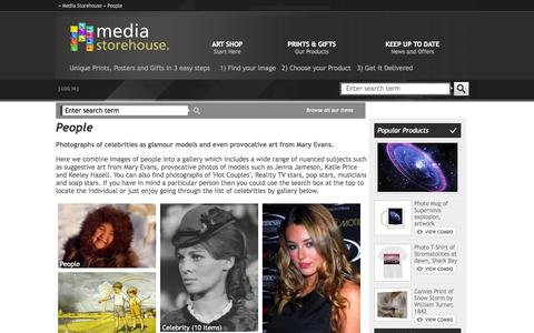 Screenshot of Team Page mediastorehouse.com - Photographs of celebrities as glamour models and even provocative art from Mary Evans. - captured Oct. 30, 2014