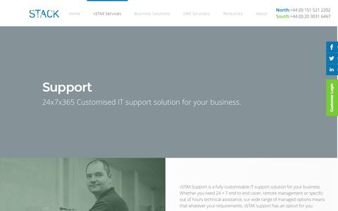 Screenshot of Support Page stack.co.uk - Support - Stack Group   IT Services and Cloud Solutions Provider - captured Sept. 26, 2016