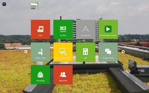 Screenshot of Home Page zoldteto.hu - Diadem - captured Sept. 13, 2015