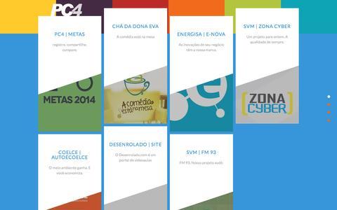 Screenshot of Home Page pc4.com.br - PC4 - Comunicação e Tecnologia - Desenvolvimento de Sites, Sistemas e Aplicativos Móveis | (85) 3261.1843 contato@pc4.com.br | Fortaleza Ceará Brasil - captured March 8, 2017