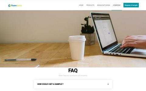 Screenshot of FAQ Page foamspirit.com - FAQ - Foam Spirit Sponge Limited - captured Nov. 6, 2018